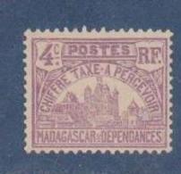 MADAGASCAR         N°  YVERT  :  TAXE   9           NEUF AVEC  CHARNIERES      (  CH  02/23 ) - Madagascar (1889-1960)