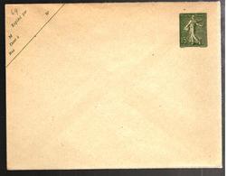 27114 - Semeuse  Lignée 15 C Vert - Postal Stamped Stationery