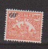 MADAGASCAR         N°  YVERT  :  TAXE   17          NEUF AVEC  CHARNIERES      (  CH  02/23 ) - Madagascar (1889-1960)
