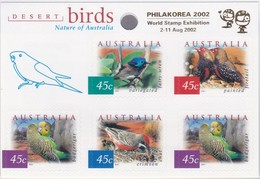 Australia 2001 Desert Birds Sc 1995f Mint Never Hinged Booklet Ovpt Philakorea 2002 - 2000-09 Elizabeth II