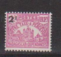 MADAGASCAR         N°  YVERT  :  TAXE   18          NEUF AVEC  CHARNIERES      (  CH  02/23 ) - Madagascar (1889-1960)