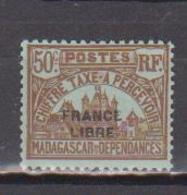 MADAGASCAR         N°  YVERT  :  TAXE   23          NEUF AVEC  CHARNIERES      (  CH  02/23 ) - Madagascar (1889-1960)