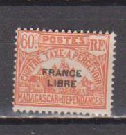 MADAGASCAR         N°  YVERT  :  TAXE   24          NEUF AVEC  CHARNIERES      (  CH  02/23 ) - Madagascar (1889-1960)