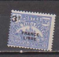 MADAGASCAR         N°  YVERT  :  TAXE   27          NEUF AVEC  CHARNIERES      (  CH  02/23 ) - Madagascar (1889-1960)