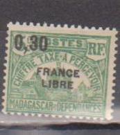 MADAGASCAR         N°  YVERT  :  TAXE   28          NEUF AVEC  CHARNIERES      (  CH  02/23 ) - Madagascar (1889-1960)