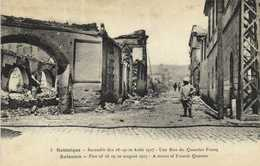 Salonique Incendie Des 18 19 20 Aout 1917 Une Rue Quartier Franq  RV - Grèce