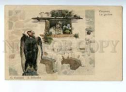 223839 RUSSIA Caretaker SOLOMKO Vulture Felton Color Postcard - Solomko, S.
