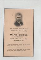 Image Religieuse Biboud Bourjaillat 1947 - Images Religieuses