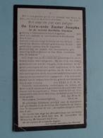 DP E Zuster JOSEPHA ( I D Wereld Berthilia RUYMEN ) Cortenbosch 8 Aug 1839 - ZOUT-LEEUW 25 Jan 1918 ! - Obituary Notices