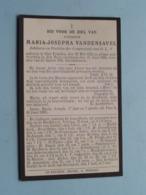 DP Juffrouw Maria-Josepha VANDENSAVEL () Sint-Truiden 28 Mei 1842 - 27 Juni 1922 ! - Todesanzeige