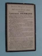 DP Laurent HERMANS () Alken 12 Mei 1874 - Hasselt 20 Feb 1912 ! - Todesanzeige