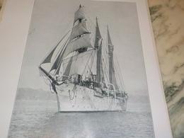 ANCIENNE PHOTO TROIS MAT GOELETTE ARES  1927 - Bateaux