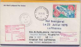 Kongo - 80 F Weltraum Apollo-Sojus Zuleitungspost Luftpostbrief Brazzaville 1975 - Sin Clasificación