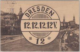 DR - Dresden 12 - 12.12.12 - 12V Schnappszahl AK M. Entspr. Stempel N. Zittau - Allemagne