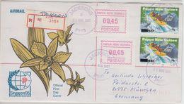 Papua Neuguinea - Jacksons 1997 Einschreibebrief 2x65 A. 60 T. Rafting - Papouasie-Nouvelle-Guinée