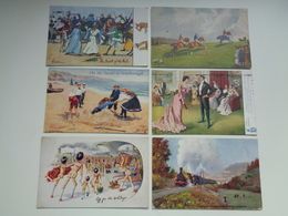 "Beau Lot De 60 Cartes Postales De Fantaisie "" Oilette ""  Raphael Tuck & Sons    Mooi Lot Van 60 Postkaarten Fantasie - Postkaarten"