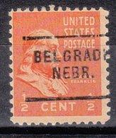 USA Precancel Vorausentwertung Preo, Locals Nebraska, Belgrade 703 - Vereinigte Staaten