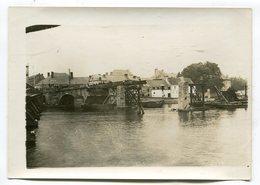Photo Originale  Format : 180*128 Mm  GIVET  Reconstruction Du Pont 1929   A VOIR  !!! - Guerre, Militaire