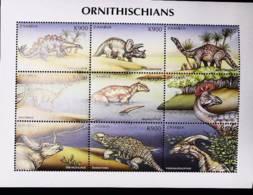 Zamba  1999 Dinosaurs, Prehistoric Animals - Zambia (1965-...)