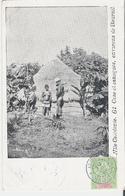 NOUVELLE CALEDONIE. CPA Voyagée En 1904 Case Et Canaques Environs De Bourail - Nouvelle Calédonie