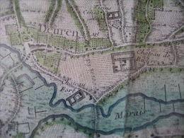 ANTWERPEN Anno 1747 Grote Handgekleurde Gravure RARE Hydrografische Kaart    - JAILLOT 60cm X 80 Cm - PRACHSTAAT - Geographical Maps