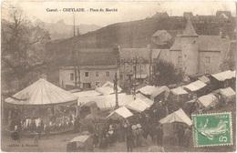 Dépt 15 - CHEYLADE - Place Du Marché - (manège) - Cliché A. Rapoutet - (écrite Par CHADEFAUX) - Autres Communes