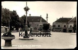 ALTE POSTKARTE BRUCK A.D. LEITHA N.O. HAUPTPLATZ BRUNNEN Niederösterreich Österreich Ansichtskarte Cpa AK Postcard - Bruck An Der Leitha