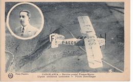 CASABLANCA  SERVICE POSTAL FRANCE MAROC LIGNES  AERIENNES LATECOERE - PILOTE DOERFLINGER - Aviateurs