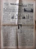Journal Paris-Presse L'Intransigeant (9 Août 1958) Bourguiba En Conflit - Estérel - De Gaulle/Marianne V - Jean Bruce - Autres