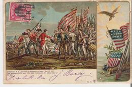 ETATS UNIS - SARATOGA. CPA Illustrée Voyagée En 1904 Bataille De Saratoga 17  Octobre 1777 L. Schwalbbach N° 31 - Saratoga Springs