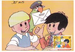 Carte Maximum  B.D. - Gil & Jo - Timbre N°2707 - FDC - 1997 - Oblitération Charleroi - Maximum Cards