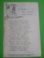 Cartolina - Militaria - A Sposa Del Soldato Che Prega - 1910 Ca. - Militari