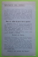 Cartolina - Militaria - Soldato Del Genio! - WWI - 1918 - Militari