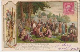 ETATS - UNIS - PHILADELPHIA. CPA Illustrée William Penn's Traité Avec Les Indiens Le 4 Mars 1681  L. Schwalbbach N°8 - Philadelphia