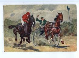 245159 HORSE RACING Riders By Ludwig KOCH Vintage 473-2 PC - Autres Illustrateurs