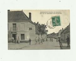 02 - BERRIEUX  - Rue De La Chaussée Vers Saint Erme Animée Bon état - Autres Communes
