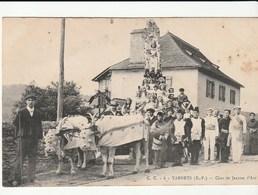 Tardets ( Pyrénées Atlantiques)  Défilé  / Char De Jeanne D'Arc Avec Boeufs - Other Municipalities