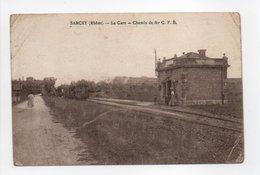 - CPA SARCEY (69) - La Gare 1921 - Chemin De Fer C. F. B. - - Frankrijk
