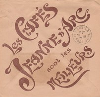 SEMEUSE 40C YT 194 II SUR ENVELOPPE ILLUSTREE LA JEANNE D ARC CAFE EPINAL 4/6/26 - Storia Postale