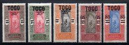 TOGO - YT N° 119 à 123 - Neufs * - MH - Cote: 7,00 € - Togo (1914-1960)