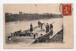 - CPA ARTAIX (71) - L'Embarquement Des Poules Du Port 1911 (belle Animation) - Edition ZZ - - Francia