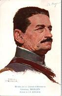 CARTE POSTALE PORTRAIT GENERAL MANGIN PAR J-F. BOUCHOR  + LAS AUTOGRAPHE ARTISTE - 1914-18