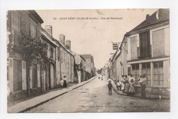 - CPA SAINT-RÉMY-DE-SILLÉ (72) - Rue De Beaumont 1917 (avec Personnages) - Edition Pavy-Legeard 741 - - France