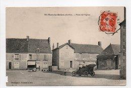 - CPA SAINT-MARS-LA-BRIÈRE (72) - Place De L'Eglise 1913 (LEGAY AUBERGISTE) - Photo J. Bouveret - - France