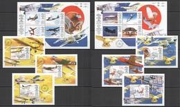 E741 1998 GUYANA TRANSPORT AVIATION ROYAL AIR FORCE BIRDS !!! 2KB+6BL MNH - Airplanes