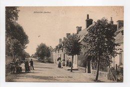 - CPA DOLLON (72) - Rue Principale 1917 (avec Personnages) - Photo A. Dolbeau - - France