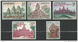 "Cambodge YT 188 à 192 "" Tourisme "" 1967 Neuf** - Cambodia"