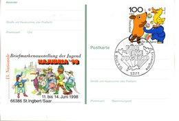"BRD Amtl. GZS-Sonderpostkarte PSo 53 ""BM-Ausstellung NAJUBRIA '98"" WSt ""Jugend"", ESSt 10.6.1998 BONN - [7] Repubblica Federale"