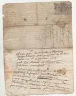 Loire Rhône Ecotay Chuyer Contrôlé à Condrieu 1696 - Manuscripts