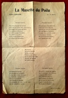 MILITARIA GUERRE 14-18 CHANSONS PIERRE LASSALES LA MUSETTE DU POILU  PERMISSIONNAIRES IMP. PATRIOTE PONT AUDEMER - 1914-18